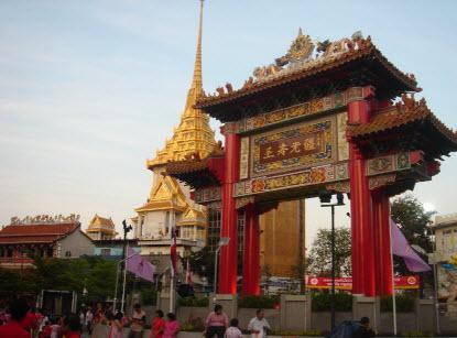 Chinese gate chinatown bangkok