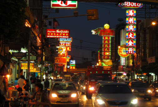Bangkok china town at night