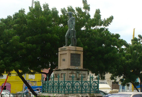 Lord Nelson Bronze Statue in Bridgetown