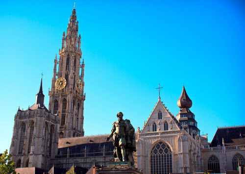 The Cathedral of our lady in Antwerp