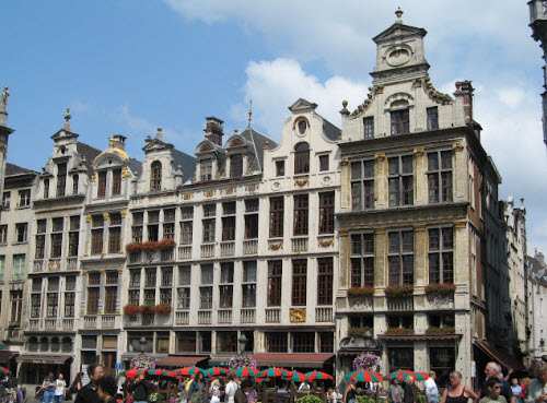 At the Grand Place in Brussels