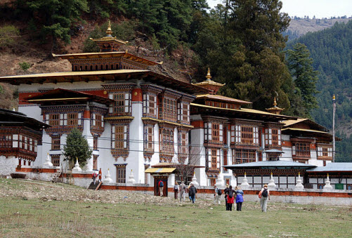 Kurje Lhakhang temple at Jakar in Bhutan