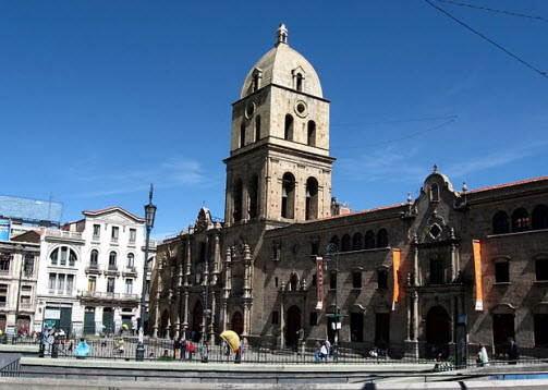 San Francisco Church in La Paz Bolivia