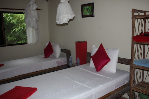 Twin Room at Family Bungalow at Rainbow Lodge Koh Kong Cambodia