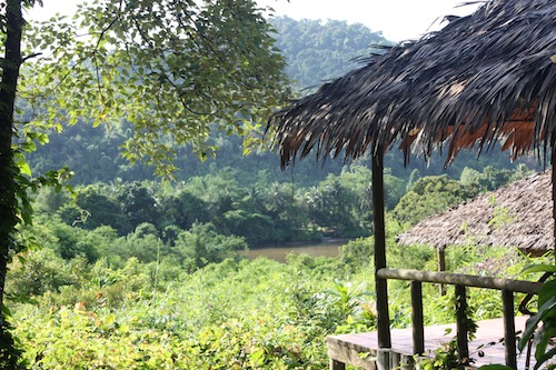 River view from Rainbow Lodge Bungalows at Cardamom Mountains Koh Kong Cambodia