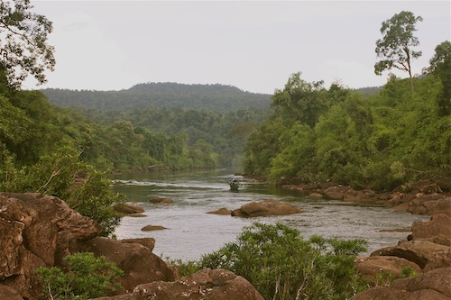 Tatai River And Waterfall In Koh Kong Province Cambodia