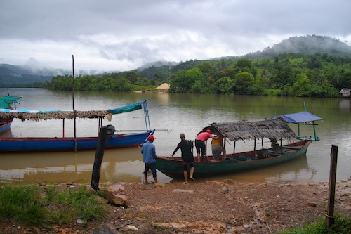 Boat Transfer on Tatai River Koh Kong Cardamom Mountains Cambodia