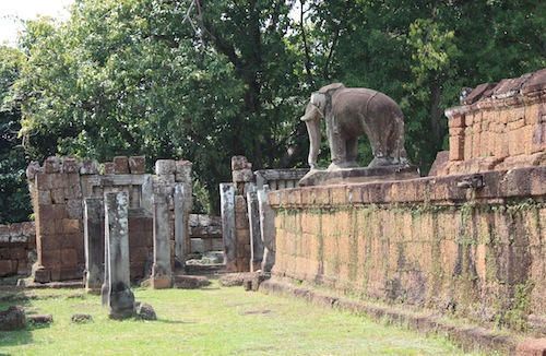 Elephant at East Mebon Temple in Siem Reap Cambodia