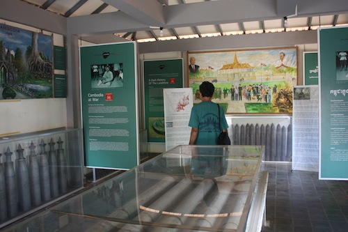 At the Landmine Museum in Siem Reap Cambodia