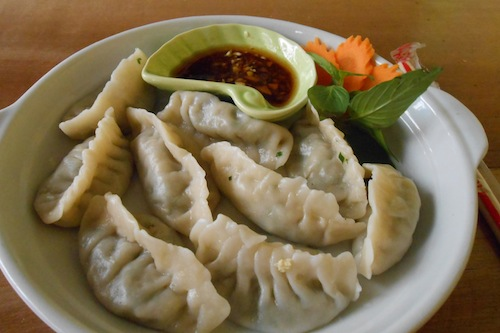 Chinese dumplings at Babushka Restaurant in Siem Reap Cambodia