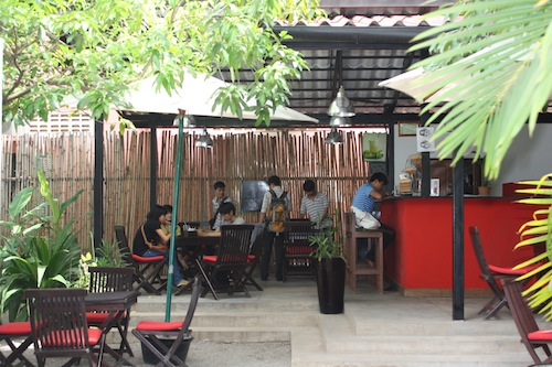 Le Cafe at the French cultural Center in Siem Reap Cambodia