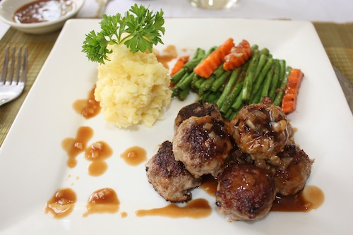Captivating Swedish Meatballs At The Soria Moria Fusion Kitchen Restaurant In Siem Reap  Cambodia
