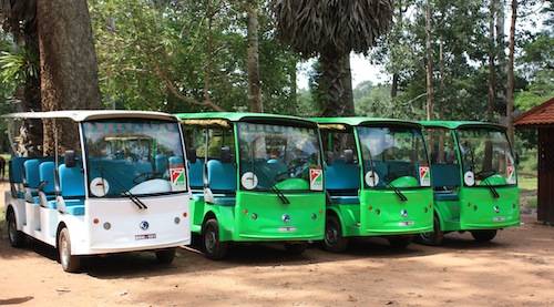 Electric Cars offer shuttle transfers within Angkor Thom)