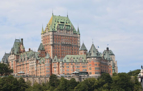The Château Frontenac Hotel in Quebec City Canada