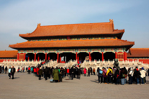 The imperial palace at the forbidden city in Beijing - China