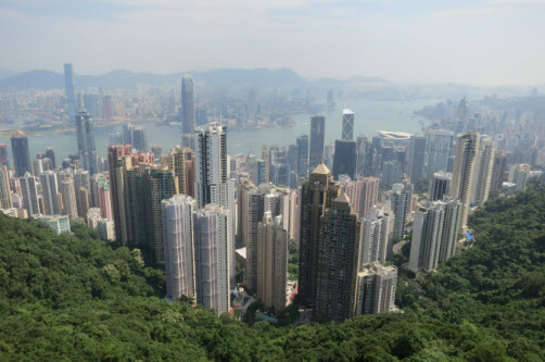 Hong Kong as seen from the Victoria Peak