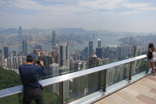 View of the Sky Terrace 428 in Hong Kong