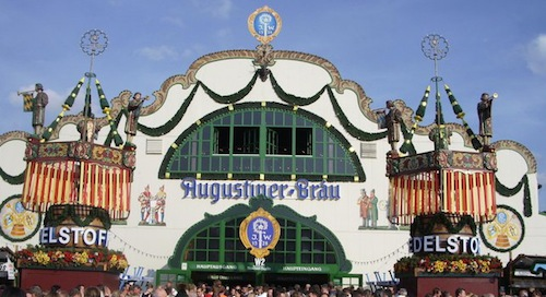 Augustiner Festhalle at the Oktoberfest in Munich