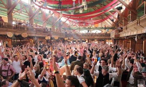 Weinzelt at the Oktoberfest in Munich