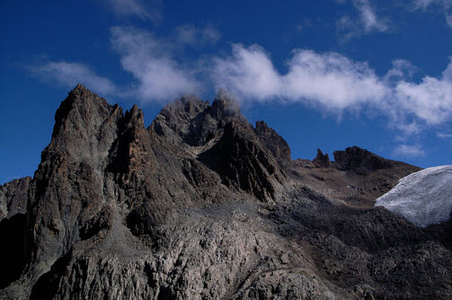 Mount Kenya in central Kenya