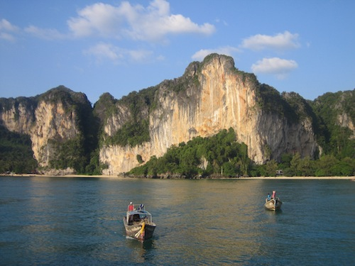 Longtail boats in Krabi