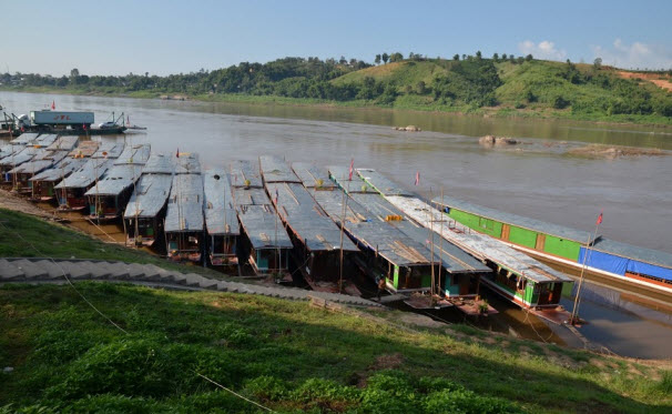 The slow boat jetty at Huay Xai