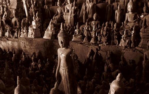 Buddha statues Luang Prabang