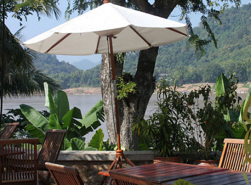 Restaurant on the river in Luang Prabang - Travel Mate