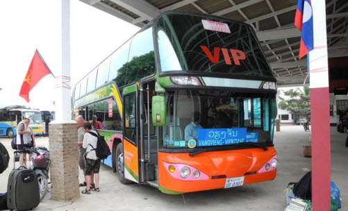 The VIP bus from Luang Prabang to Vientiane
