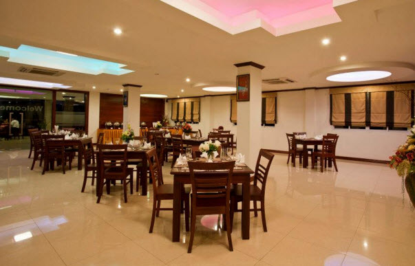 Restaurant at the Lao Golden Hotel Vientiane