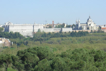 Casa Campo view Royal palace madrid