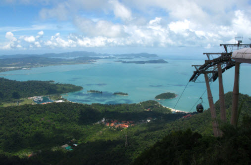 View of the Islands at the cable Car in Langkawi - Travel Mate