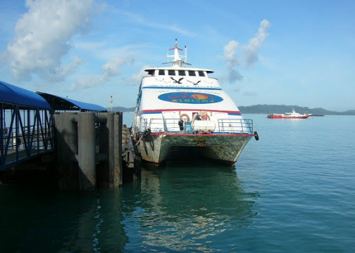 Ferry in the harbor on Langkawi