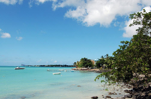 Grand Bay on Mauritius Island - Indian Ocean