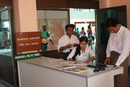 Archaeological Zone ticket sellers at Bagan airport