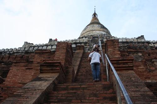 Shwesandaw Pagoda in Bagan Myanmar