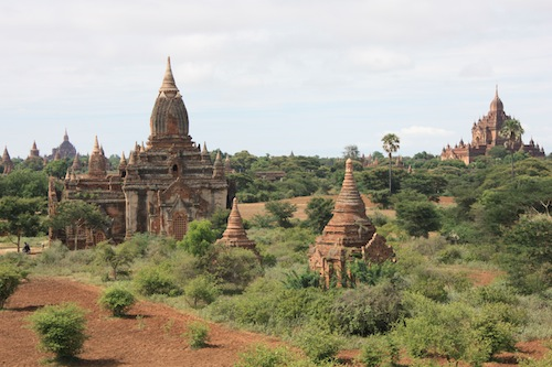 Temples in Bagan in Myanmar Burma - Travel advice and trip info - Free world travel guide
