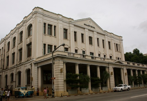 The famous Strand Hotel in Yangon (Rangoon), Myanmar (Burma)