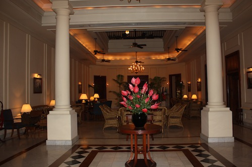 The Lobby of The Strand Hotel in Yangon (Rangoon), Myanmar (Burma)