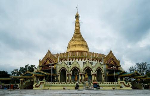 Kaba aye paya in yangon myanmar modern stupa for Modern house yangon