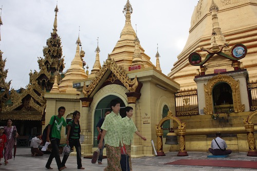 The Sule pagoda in Yangon (Rangoon) Myanmar (Burma)
