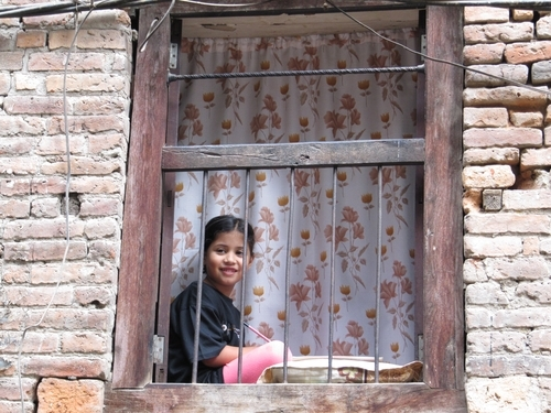 Window In A Small Street Thamel