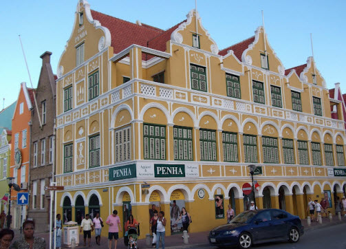 The Penha building in Willemstad Curacao