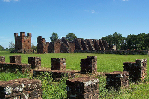 The ruins of the Jesuit mission of La Santisima