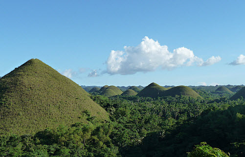 The Chocolate Mountains on Bohol Island