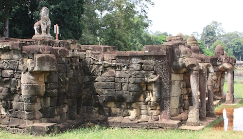 The elephant terrace in angkor thom siem reap cambodia