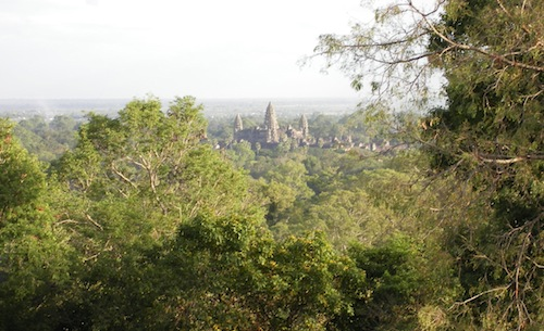 Phnom Bakheng view of Angkor