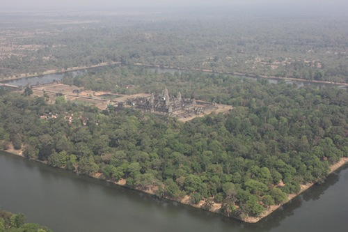 Angkor Wat from the helicopter