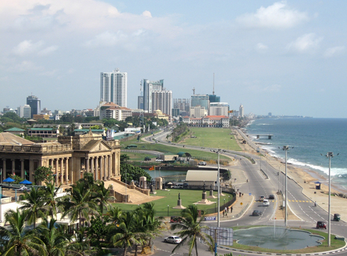 galle face in colombo - sri lanka