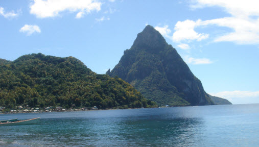 The Pitons mountains St Lucia